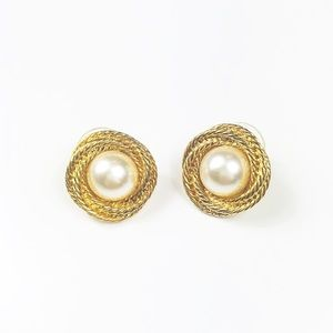 Napier Vintage Gold Tone Earrings